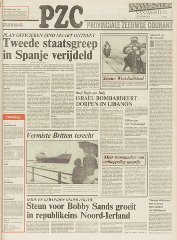 Provinciale Zeeuwse Courant 1981-04-28