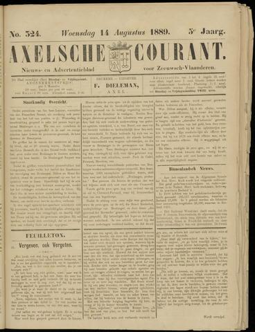 Axelsche Courant 1889-08-14