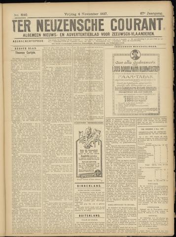 Ter Neuzensche Courant. Algemeen Nieuws- en Advertentieblad voor Zeeuwsch-Vlaanderen / Neuzensche Courant ... (idem) / (Algemeen) nieuws en advertentieblad voor Zeeuwsch-Vlaanderen 1927-11-04
