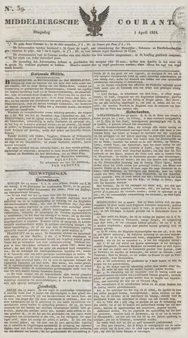 Middelburgsche Courant 1834-04-01