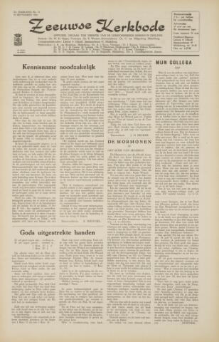 Zeeuwsche kerkbode, weekblad gewijd aan de belangen der gereformeerde kerken/ Zeeuwsch kerkblad 1966-09-09
