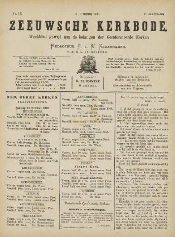 Zeeuwsche kerkbode, weekblad gewijd aan de belangen der gereformeerde kerken/ Zeeuwsch kerkblad 1890-10-11