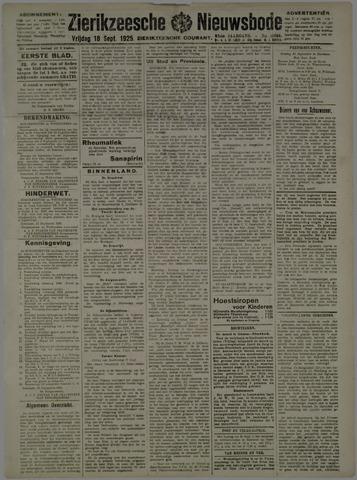 Zierikzeesche Nieuwsbode 1925-09-18