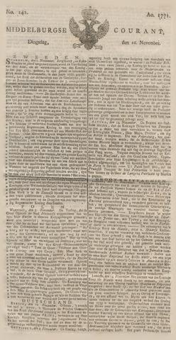 Middelburgsche Courant 1771-11-26