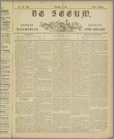 De Zeeuw. Christelijk-historisch nieuwsblad voor Zeeland 1896-07-09