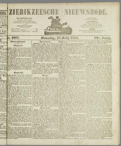 Zierikzeesche Nieuwsbode 1854-07-17