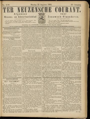 Ter Neuzensche Courant. Algemeen Nieuws- en Advertentieblad voor Zeeuwsch-Vlaanderen / Neuzensche Courant ... (idem) / (Algemeen) nieuws en advertentieblad voor Zeeuwsch-Vlaanderen 1905-08-22
