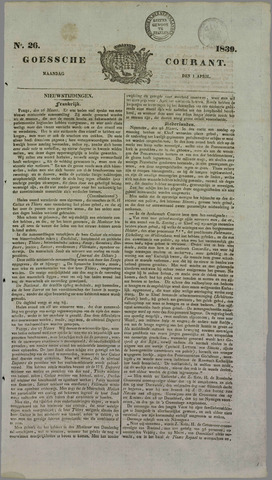 Goessche Courant 1839-04-01