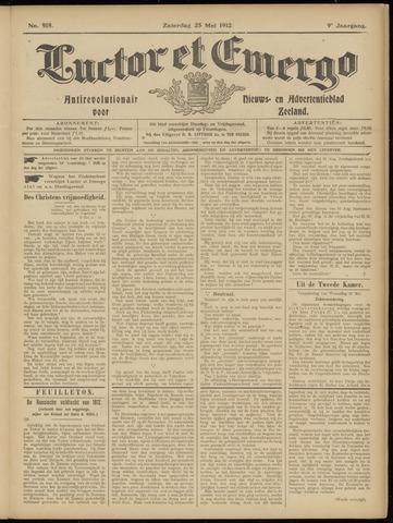 Luctor et Emergo. Antirevolutionair nieuws- en advertentieblad voor Zeeland / Zeeuwsch-Vlaanderen. Orgaan ter verspreiding van de christelijke beginselen in Zeeuwsch-Vlaanderen 1912-05-25