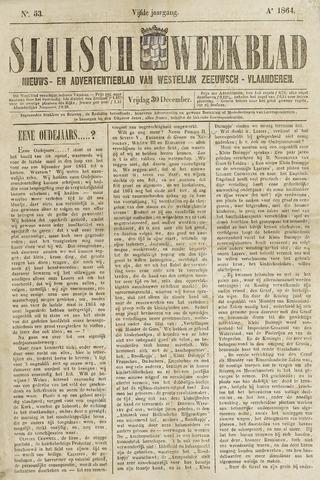 Sluisch Weekblad. Nieuws- en advertentieblad voor Westelijk Zeeuwsch-Vlaanderen 1864-12-30