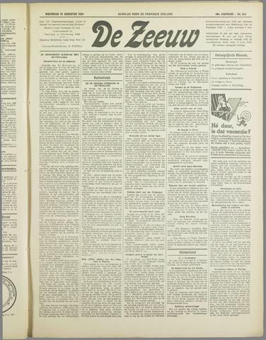 De Zeeuw. Christelijk-historisch nieuwsblad voor Zeeland 1934-08-15