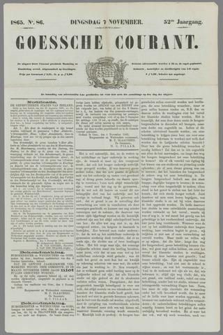 Goessche Courant 1865-11-07