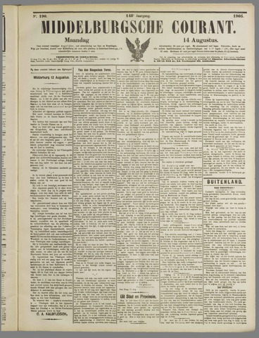 Middelburgsche Courant 1905-08-14