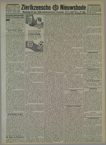 Zierikzeesche Nieuwsbode 1930-01-22