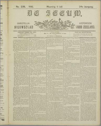De Zeeuw. Christelijk-historisch nieuwsblad voor Zeeland 1910-07-11