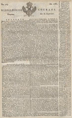 Middelburgsche Courant 1762-09-28