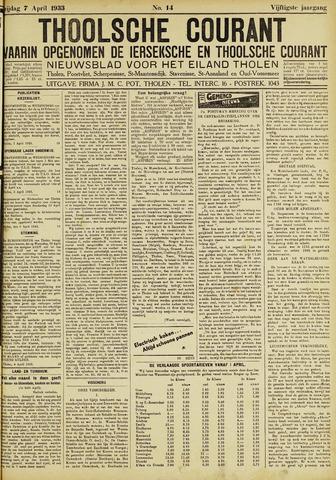 Ierseksche en Thoolsche Courant 1933-04-07