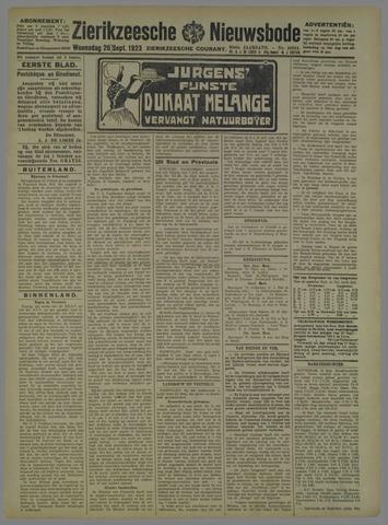 Zierikzeesche Nieuwsbode 1923-09-26