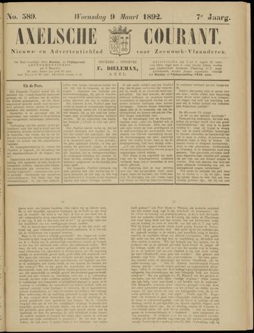 Axelsche Courant 1892-03-09