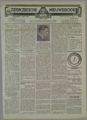 Zierikzeesche Nieuwsbode 1937-07-05