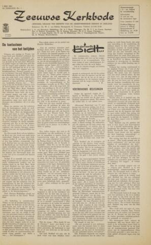 Zeeuwsche kerkbode, weekblad gewijd aan de belangen der gereformeerde kerken/ Zeeuwsch kerkblad 1963-07-05