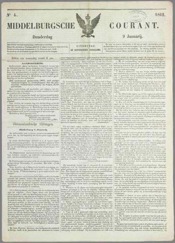 Middelburgsche Courant 1862-01-09