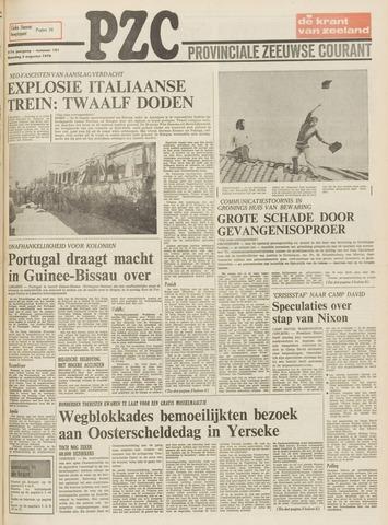 Provinciale Zeeuwse Courant 1974-08-05