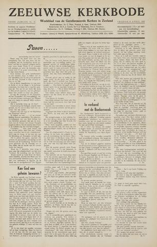 Zeeuwsche kerkbode, weekblad gewijd aan de belangen der gereformeerde kerken/ Zeeuwsch kerkblad 1955-04-08