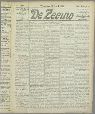 De Zeeuw. Christelijk-historisch nieuwsblad voor Zeeland 1919-04-09