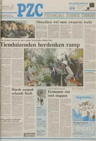 Provinciale Zeeuwse Courant 1992-10-12