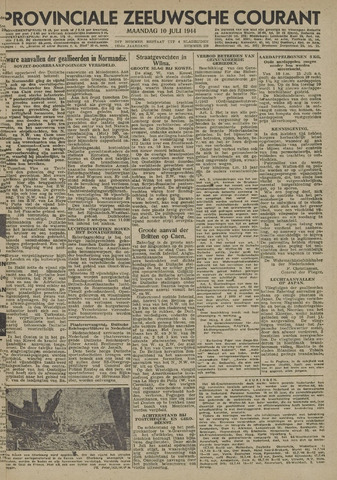 Provinciale Zeeuwse Courant 1944-07-10