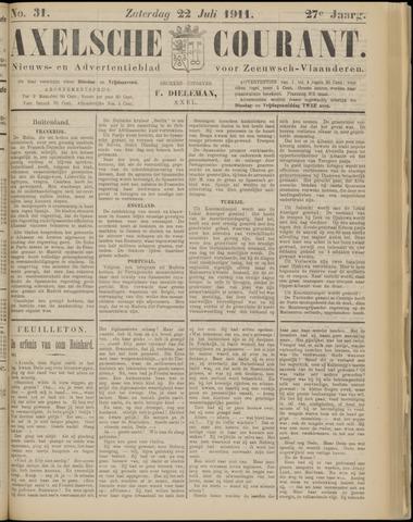 Axelsche Courant 1911-07-22