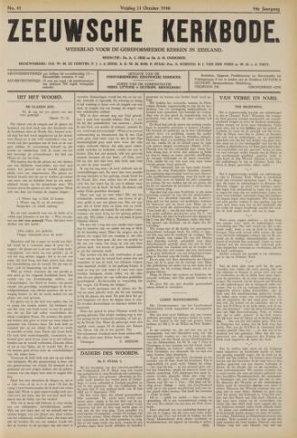 Zeeuwsche kerkbode, weekblad gewijd aan de belangen der gereformeerde kerken/ Zeeuwsch kerkblad 1940-10-11