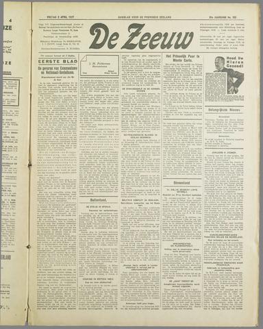 De Zeeuw. Christelijk-historisch nieuwsblad voor Zeeland 1937-04-02
