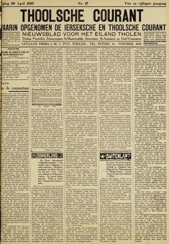 Ierseksche en Thoolsche Courant 1937-04-30