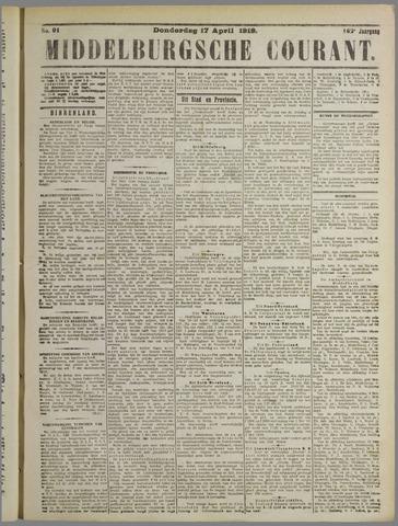 Middelburgsche Courant 1919-04-17