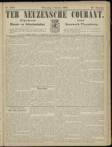 Ter Neuzensche Courant. Algemeen Nieuws- en Advertentieblad voor Zeeuwsch-Vlaanderen / Neuzensche Courant ... (idem) / (Algemeen) nieuws en advertentieblad voor Zeeuwsch-Vlaanderen 1885-10-07
