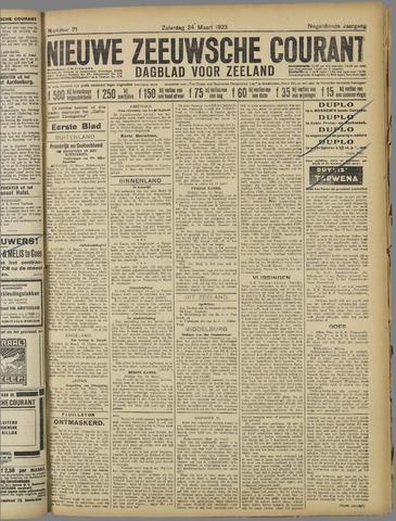 Nieuwe Zeeuwsche Courant 1923-03-24