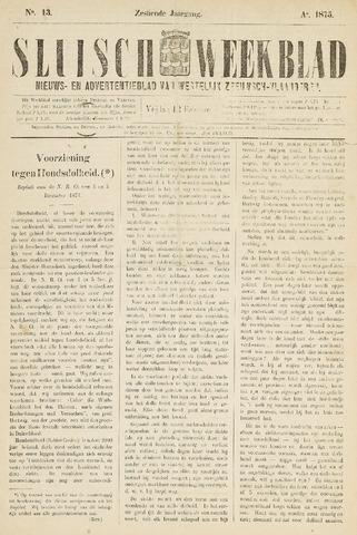 Sluisch Weekblad. Nieuws- en advertentieblad voor Westelijk Zeeuwsch-Vlaanderen 1875-02-12