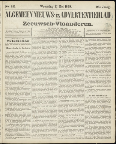 Ter Neuzensche Courant. Algemeen Nieuws- en Advertentieblad voor Zeeuwsch-Vlaanderen / Neuzensche Courant ... (idem) / (Algemeen) nieuws en advertentieblad voor Zeeuwsch-Vlaanderen 1869-05-12