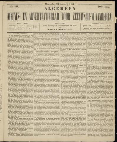 Ter Neuzensche Courant. Algemeen Nieuws- en Advertentieblad voor Zeeuwsch-Vlaanderen / Neuzensche Courant ... (idem) / (Algemeen) nieuws en advertentieblad voor Zeeuwsch-Vlaanderen 1870-01-26
