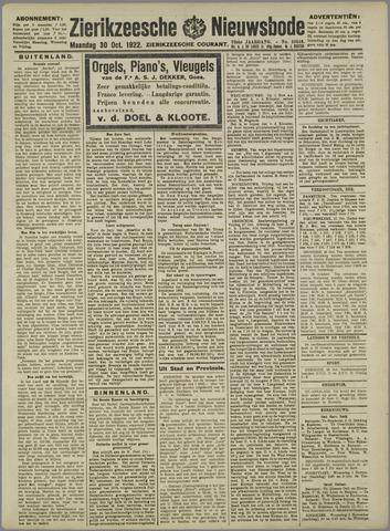 Zierikzeesche Nieuwsbode 1922-10-30