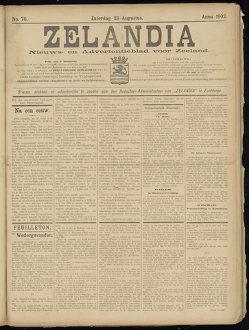 Zelandia. Nieuws-en advertentieblad voor Zeeland | edities: Het Land van Hulst en De Vier Ambachten 1902-08-23