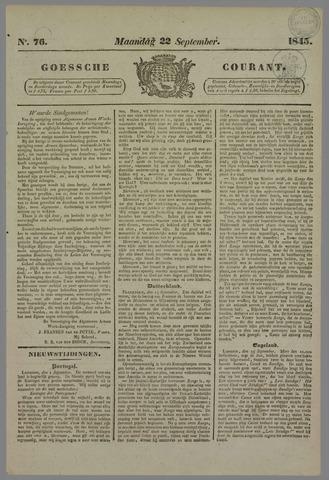 Goessche Courant 1845-09-22