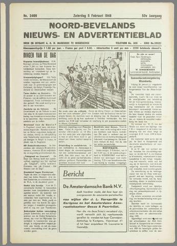 Noord-Bevelands Nieuws- en advertentieblad 1949-02-05
