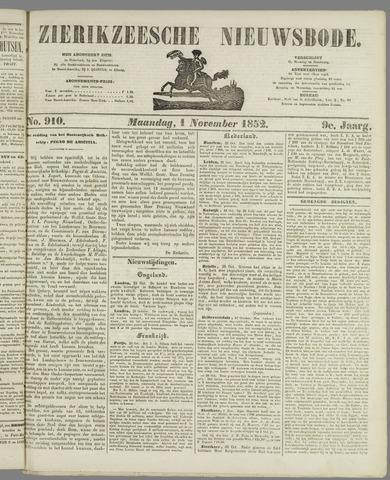 Zierikzeesche Nieuwsbode 1852-11-01