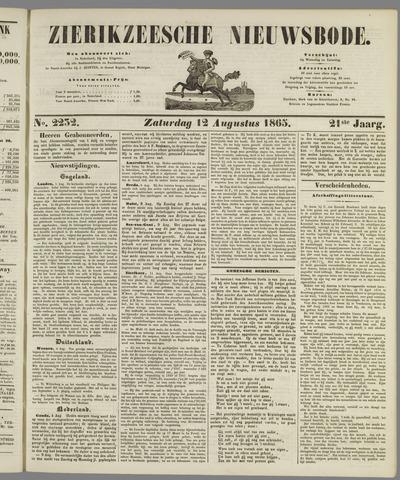 Zierikzeesche Nieuwsbode 1865-08-12