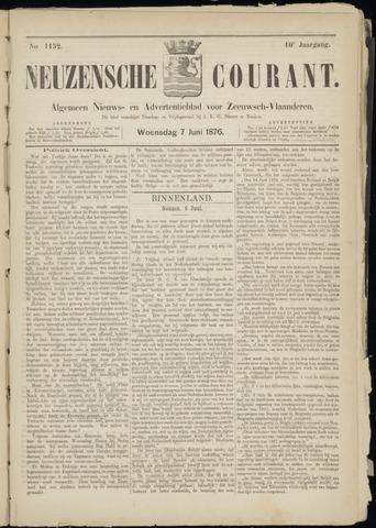 Ter Neuzensche Courant. Algemeen Nieuws- en Advertentieblad voor Zeeuwsch-Vlaanderen / Neuzensche Courant ... (idem) / (Algemeen) nieuws en advertentieblad voor Zeeuwsch-Vlaanderen 1876-06-07