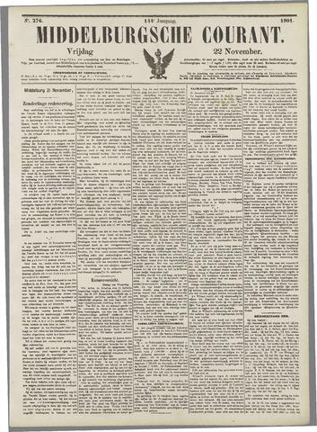 Middelburgsche Courant 1901-11-22
