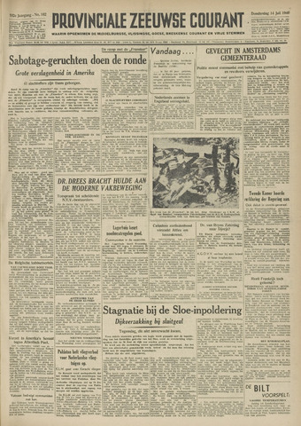 Provinciale Zeeuwse Courant 1949-07-14